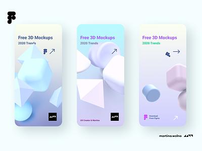 3D models freebies app 3dsmax 3d art freebies freebie model 3d figma design mobile ui