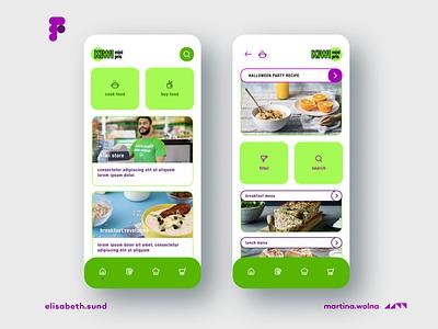 Redesign of KIWI store UI design ux logo branding app minimalist figma design mobile ui