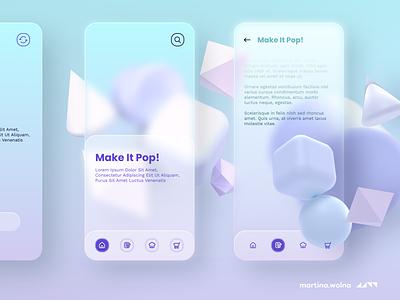 Glassmorphism - trend for 2021 #glass temple freebies design minimalist figma app soft 2021 trends glassmorphism glass neumorphic ui