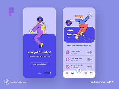 Music app violet illustration figma design mobile ui