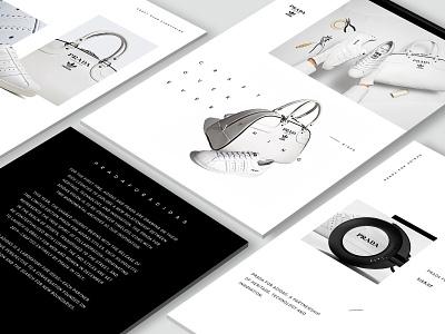 adidas Originals x Prada Website Design visual design creative concept web design creative direction art direction art adidas originals adidas prada website web fashion design fashion minimal typography branding logo design