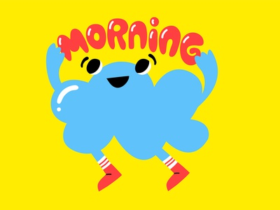 Morning Cloud Snapchat Sticker kimberly mar morning cloud vector messaging illustration snapchat sticker stickers