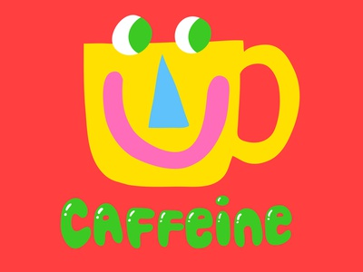 Caffeine Snapchat Sticker character design face coffee vector stickers sticker snapchat kimberly mar illustration