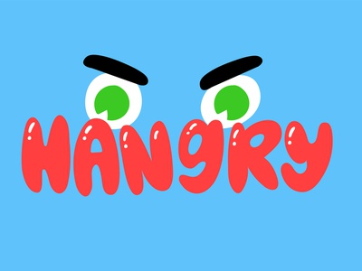 Hangry Snapchat Sticker eyes hangry face character design vector stickers sticker snapchat kimberly mar illustration