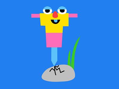 Jackhammer Sticker character illustration face character design stickers vector sticker snapchat kimberly mar illustration