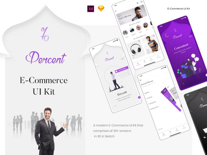 Percent - E Commerce UI Kit