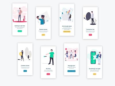 UI Challenge // Flash Messages vector app dailyuichallenge dailyui ui designer ui design flat ui illustration design
