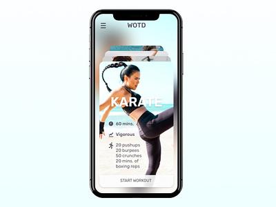 UI Challenge // Workout of the Day dailyuichallenge dailyui mobile app mobile ui ui designer ui design ui design