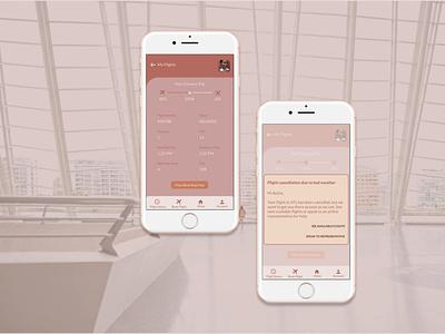 UX Writing Challenge // Flight Cancellation ux writing mobile app mobile ui ui designer ui design app ui design