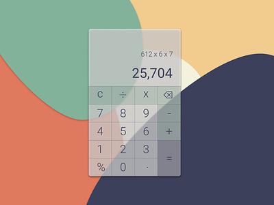 UI Challenge // Calculator dailyuichallenge dailyui mobile ui mobile app app ui designer ui design ui