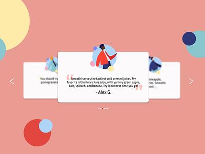 UI Challenge // Testimonials dailyuichallenge dailyui vector illustration ui designer ui design design ui