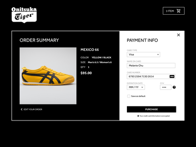 Daily UI Challenge  002 - Checkout bruce lee order shoes ecommerce payment dailyui 002 dailyuichallenge dailyui checkout