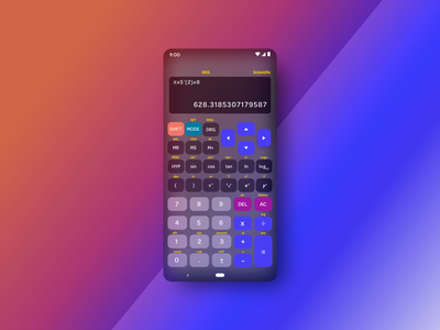 Daily UI Challenge  #004 glassmorphism daily ui 004 daily ui daily ui challenge dark mode calculate math mathematics scientific calculator uiux ui calculator ui calculator