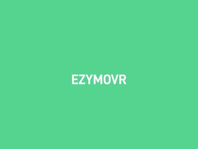 Application screens for EZYMOVR vector ux ui animation app design
