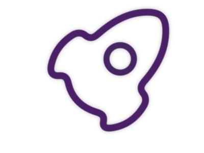 Rocket Icon for AoToMoT minimal icon vector animation