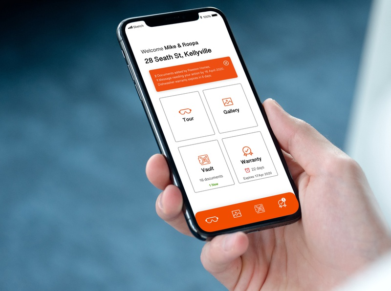 Home screen for Digital Handover Kit icon app design