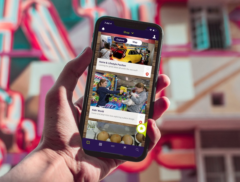 Sydney Royal Easter Show - Shopping app web ux ui design