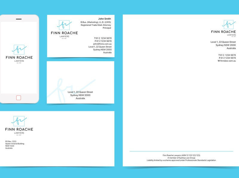 Finn Roache Lawyers - Stationary Design logo branding design