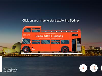 VR Bus Tour - Genesys SDR2020 Summit ux branding website ui design