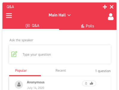 Features - Q&A and Polls web ui design