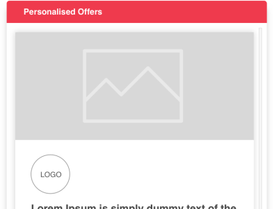 Features - Personalised Offers - Virtual Conference web website design