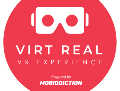 Badge for Virtual Reality illustration icon website ui design