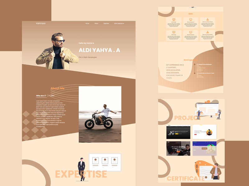 Portfolio Website | For Web Designer & Developer inspiration website portfolio weblayout webdesign