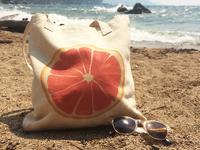 Watercolor Grapefruit Tote Bag