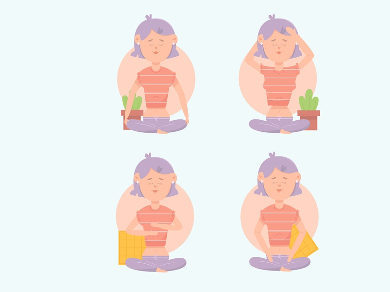 self healing poses pack illustration flat design flat design illustration pack poses healing self