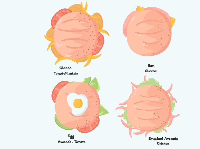 tasty arepas pack illustration flat design cartoon food colombian arepa tasty