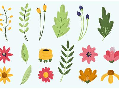 Spring Flowers Illustration garden daisy nature blossom beautiful clipart vector illustration flower spring