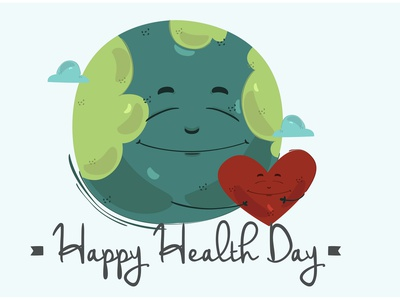 Happy World Health Day Background Illustration celebration creative earth vector illustration background day health world happy