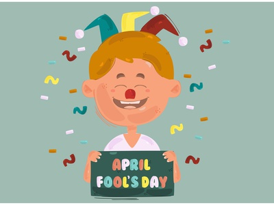 April Fool s Day Background Illustration 2 character 2021 gift prank vector illustration background day fool april
