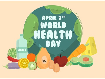 World Health Day Background Illustration earth activities food celebration vector illustration background day health world