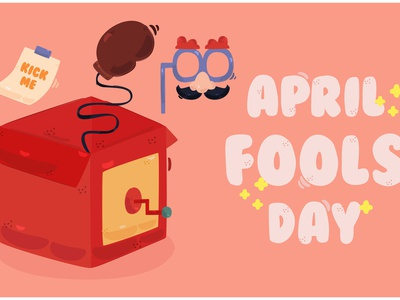 April Fool s Day Background Illustration (3) clown gift prank celebration vector illustration background day fool april