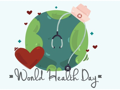 World Health Day Background Illustration (2) healthy activities earth celebration vector illustration background day health world