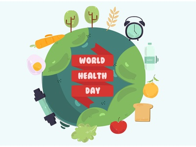 World Health Day 2021 Background Illustration healthy earth celebration vector illustration background 2021 day health world