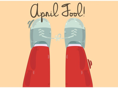 April Fool s Day Background Illustration (5) shoes gift prank celebration vector illustration background day fool april