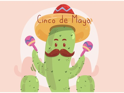 Cinco de Mayo Concept Illustration cactus parade celebration festival party mexico vector illustration concept cinco de mayo