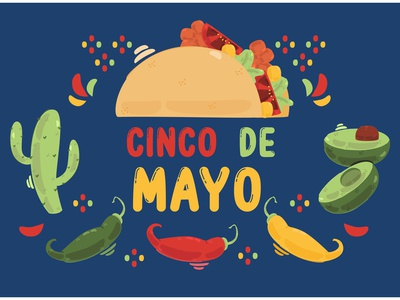 Cinco de Mayo Festival Illustration culture feliz parade celebrate party mexico vector illustration festival cinco de mayo