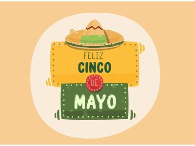 Cinco de Mayo Greeting Illustration culture parade celebrate festival party mexico vector illustration greeting cinco de mayo