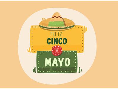 Cinco de Mayo Greeting Illustration culture parade celebrate festival party mexico vector illustration greeting cinco de mayo