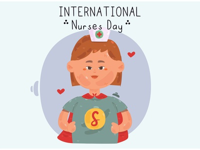 Nurse with Superhero Costume Illustration patient day celebrate medical hospital vector illustration costume superhero nurse