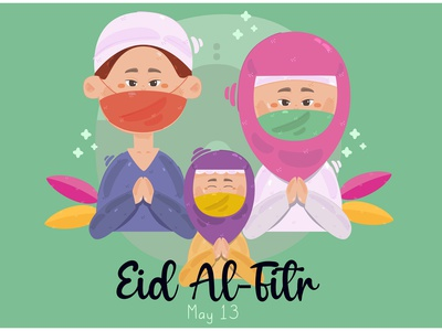 Eid Al Fitr Mubarak Illustration character festival celebration greeting muslim vector illustration mubarak al-fitr eid