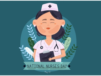 National Nurses Day Illustration celebration staff patient medical hospital vector illustration day nurse national