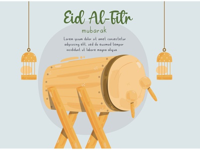 Eid Al Fitr Mubarak Illustration (2) day greeting muslim islam celebration vector illustration mubarak al-fitr eid