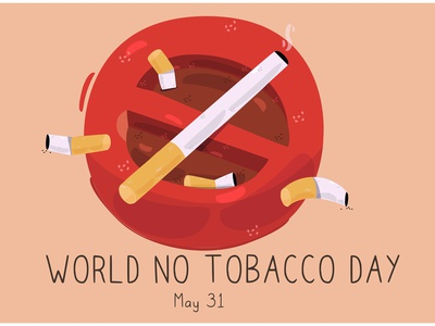World No Tobacco Day Illustration health awareness cigarette campaign smoking vector illustration day tobacco world