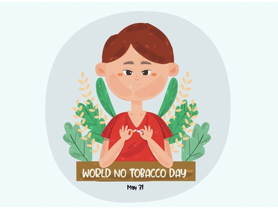 World No Tobacco Day Illustration (2) cigarette campaign smoking awareness health vector illustration day tobacco world