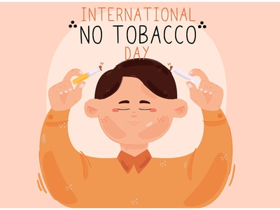 International World No Tobacco Day Illustration awareness anti cigarette smoking vector illustration day tobacco world international