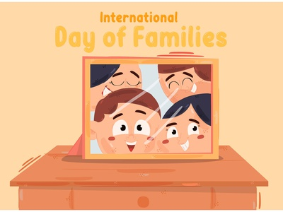 International Day of Families Illustration (4) son daughter child mother father vector illustration family day international